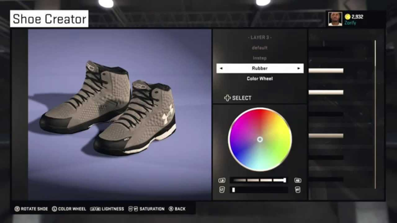 32c812ac585a ... where can i buy nba 2k15 shoe creator under armour curry 1 custom san  antonio spurs