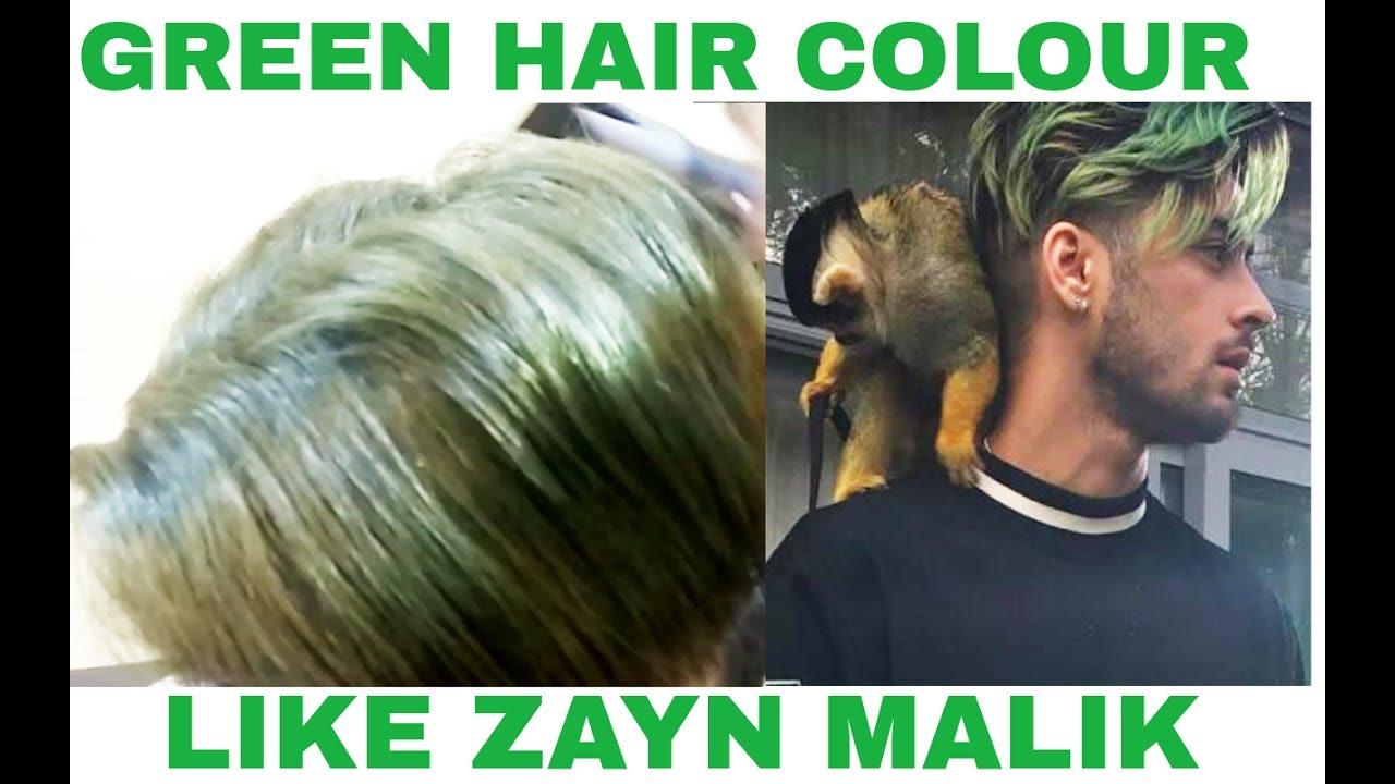 Green Hair Colour Like Zayn Malik Syd Baram Youtube
