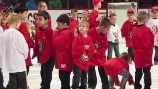Taking Team photo on United Center Ice