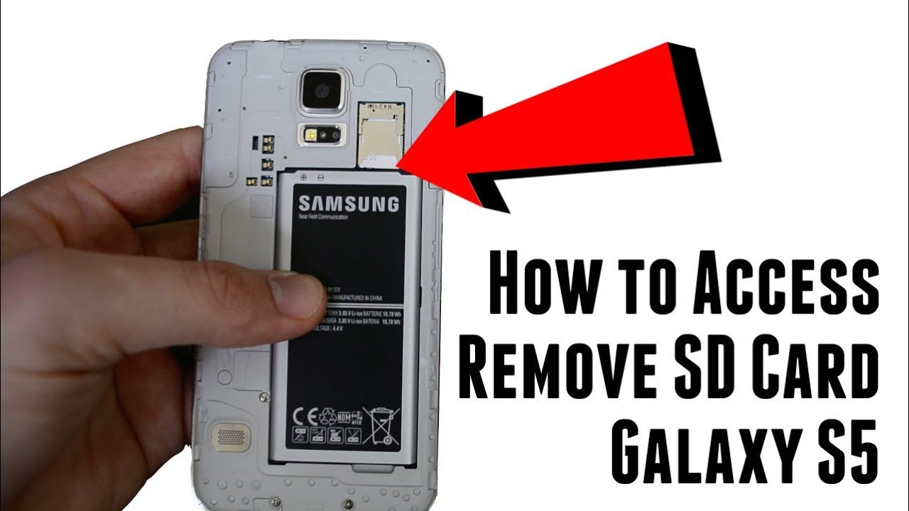 How to access and remove Galaxy S5 SD memory card - YouTube