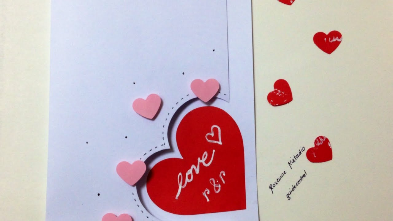 Superb Love Card Making Ideas Part - 2: Make An Easy Love Card - DIY Crafts - Guidecentral - YouTube