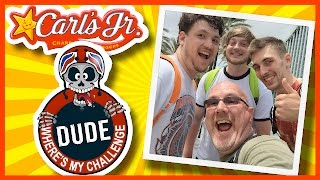 Carl's Jr Review With Dude Where's My Challenge At Vidcon 2015