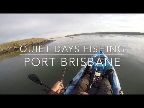 Quiet Days Fishing At The Port Of Brisbane On Dragon Kayaks