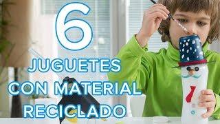 Juguetes con materiales reciclados para niños | 6 manualidades para hacer en casa