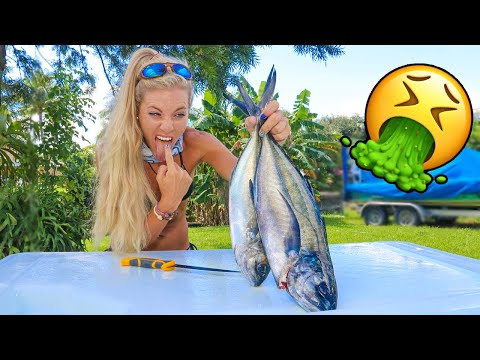 Would YOU Eat It?? Blue Runner- Catch, Clean, Cook TRASH Fish Taste Test!