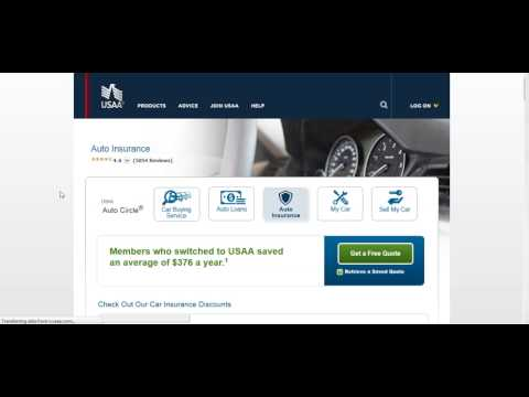 Car insurance quotes from USAA Online