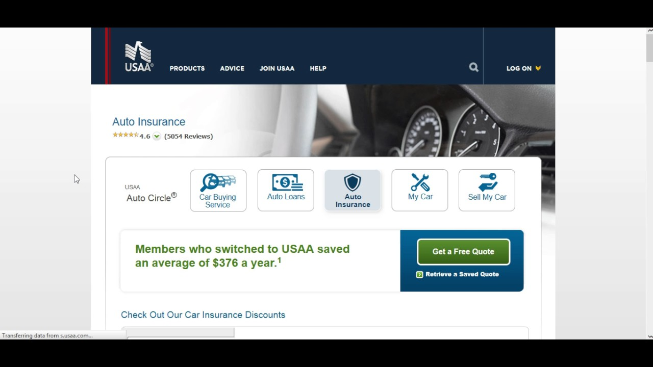 Car insurance quotes from USAA Online - YouTube