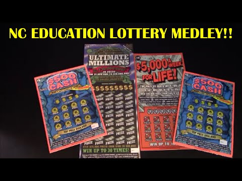 NC EDUCATION LOTTERY MEDLEY $5 $30 SCRATCH CARDS! LOOKING FOR A BIG WIN!