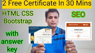Free Certification Course | Web designing | SEO | HTML CSS Bootstrap