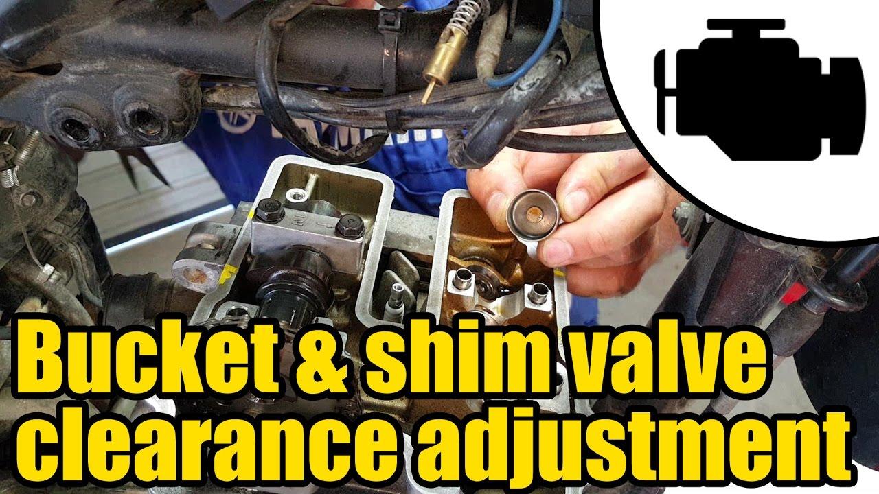 Adjusting bucket & shim type valve clearance #1158