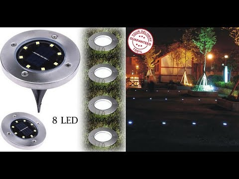 8LED Solar Power Auto Desk Lights - Best Energy Saving Lights For Home & Garden