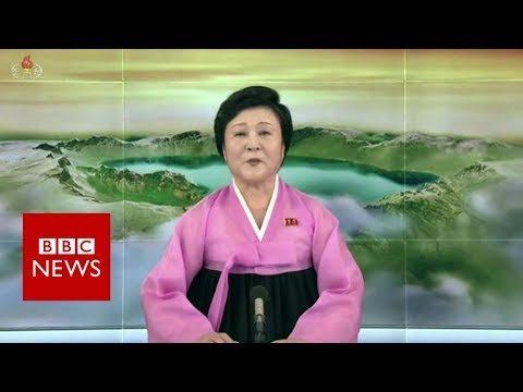 North Korea state TV reports on Trump Kim summit - BBC News