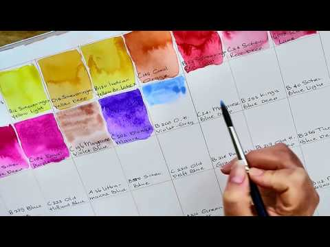 Old Holland artist grade watercolor paint Color Chart