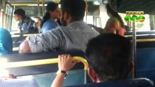 KSRTC lady conductor slaps passenger