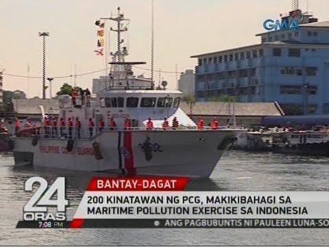 24 Oras: 200 kinatawan ng PCG, makikibahagi sa Maritime Pollution Exercise sa Indonesia