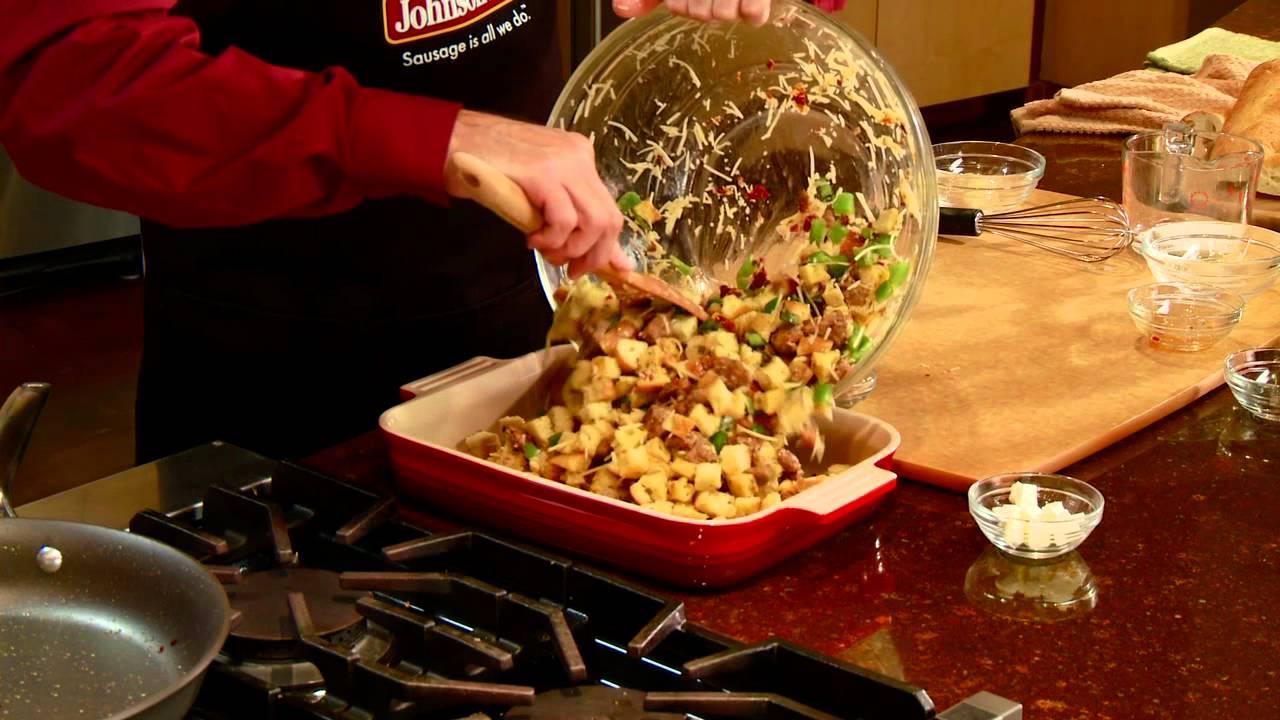 Johnsonville Italian Sausage Stuffing Youtube