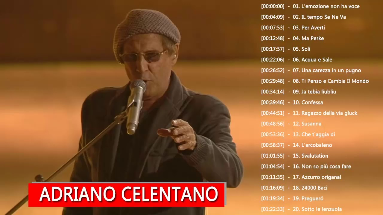 Adriano Celentano Greatest Hits Collection 2018 The Best Of Adriano Celentano Full Album Youtube
