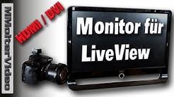 Günstiger HDMI Monitor für DSLR & Video Kameras - Live-View Monitor