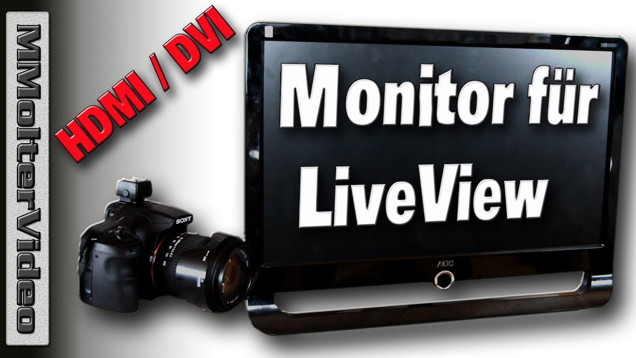 g nstiger hdmi monitor f r dslr video kameras live view monitor mmoltervideo youtube. Black Bedroom Furniture Sets. Home Design Ideas