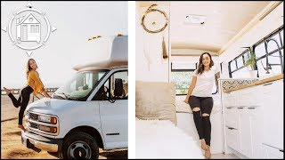 She Converted A Shuttle Bus Into An Adorable Tiny Home
