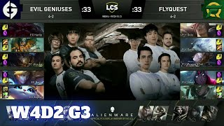 Evil Geniuses vs FlyQuest | Week 4 Day 2 S10 LCS Summer 2020 | EG vs FLY W4D2