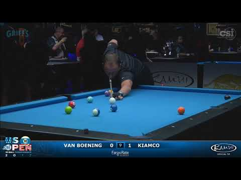 2017 US Open 10-Ball: Van Boening vs Kiamco