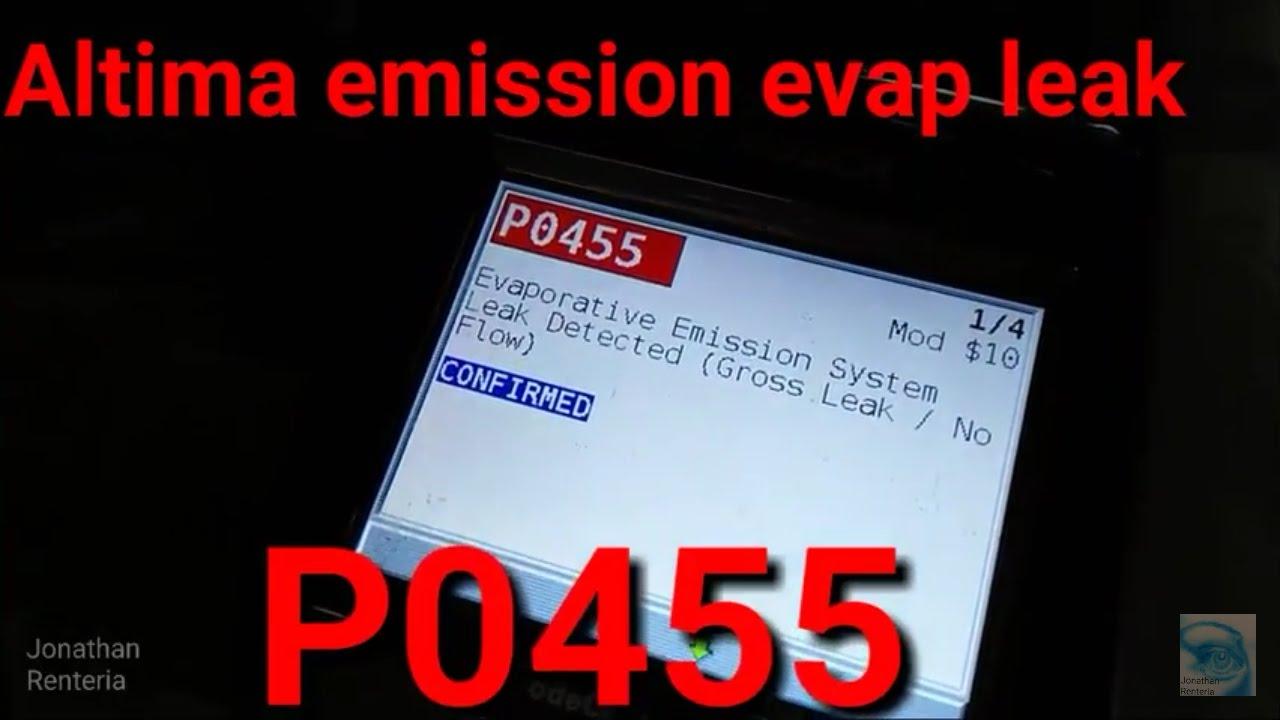 P0455 Nissan Altima (evap leak  no flow)  YouTube