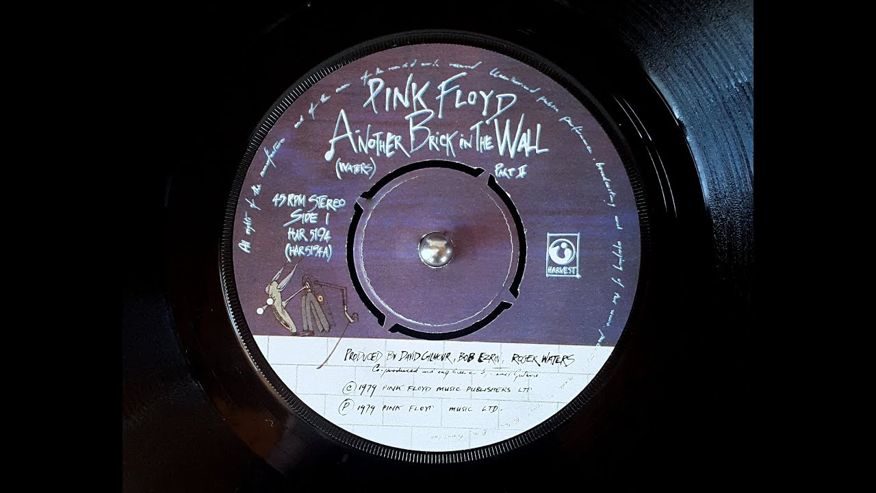 Pink Floyd Another Brick In The Wall 45rpm Vinyl 7