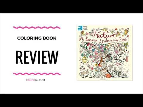 Nature - A Seasonal Coloring Book Review - Flora Waycott