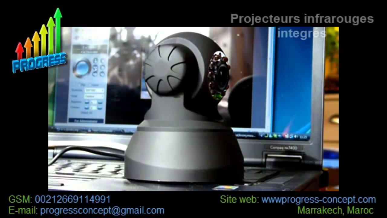 camera de surveillance ip wifi et pilotable distance youtube. Black Bedroom Furniture Sets. Home Design Ideas