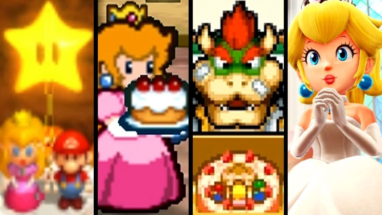 Super Mario Evolution of CAKE 1996-2017 (Switch to SNES)