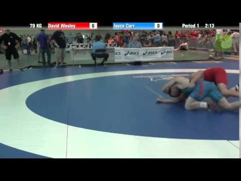 Men`s Freestyle 70 KG David Wesley vs. Jayce Carr