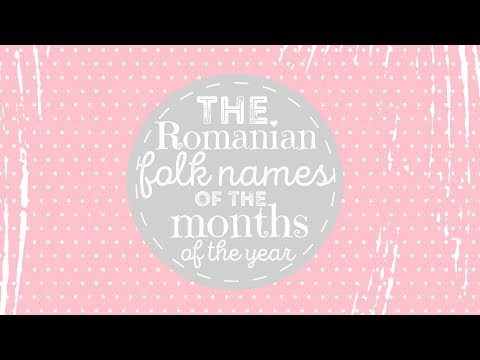 Romanian Folk Names of the Months