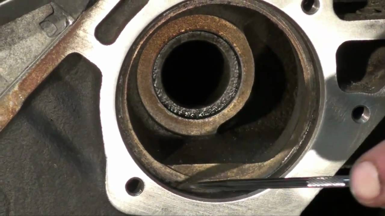 how to prepare vw water pump gasket mating surface area [ 1280 x 720 Pixel ]