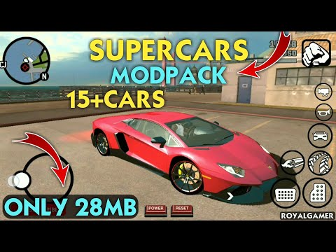 (28MB) SuperCars Mod For GTA San Andreas Android | Supercars Mod pack | Premium Cars | Cars Mod pack