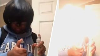 Teens Setting Themselves On Fire For Fire Spray Challenge (VIDEO)