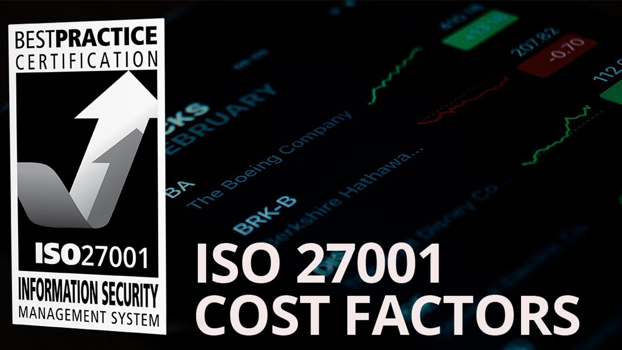 How Much Does It Cost To Get Iso 27001 Certified Youtube