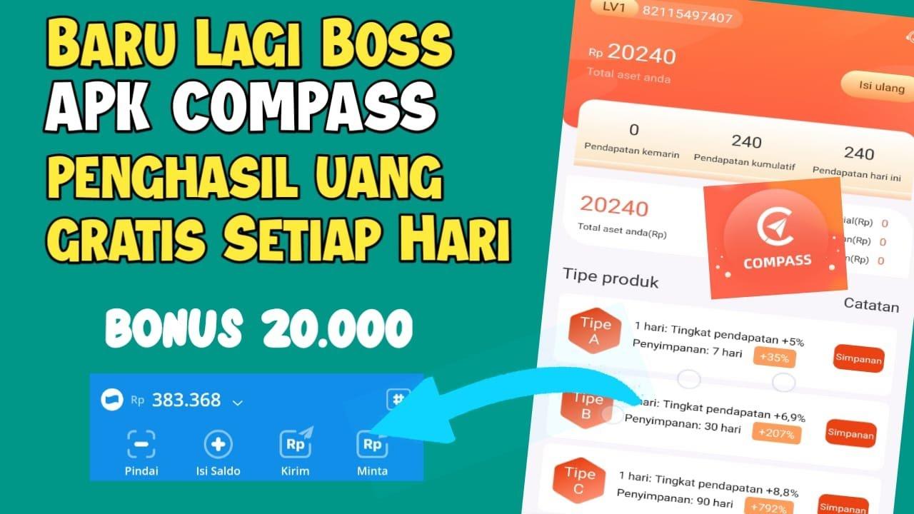 Aplikasi Compass Penghasil Uang Gratis Tercepat 2021 Youtube