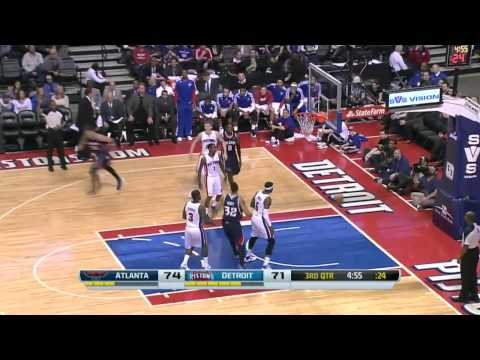 Atlanta Hawks vs Detroit Pistons | February 21, 2014 | NBA 2013-14 Season