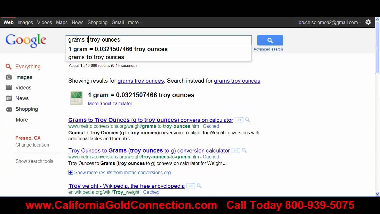 Gold Conversion Calculator Google Cash For