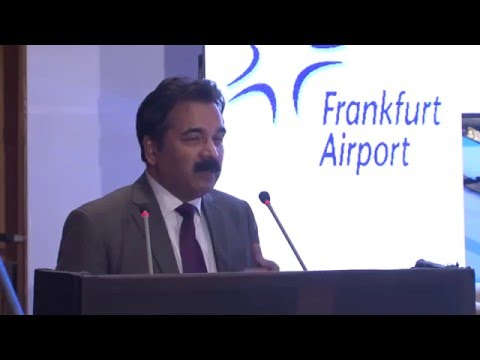 Mithileshwar Thakur giving keynote address at Air Cargo India 2016
