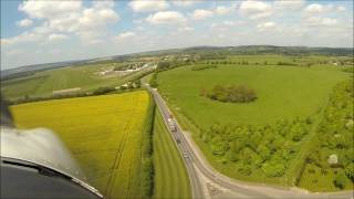 Landing a Piper PA28 Archer III at Chichester/Goodwood Airfield R32