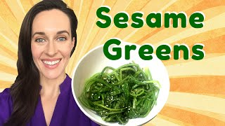 Demo: Sesame Greens - Turnip Greens In Toasted Sesame Oil & Sesame Seeds -asian Greens