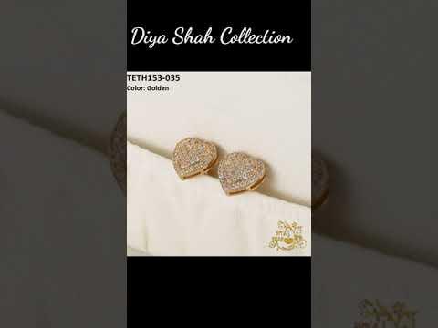 Gold Ear Tops Designs ✨ Stylish Earrings Designs ✨ Cute Earrings ✨ Gold Ear Tops ✨Diya Shah Ear Tops