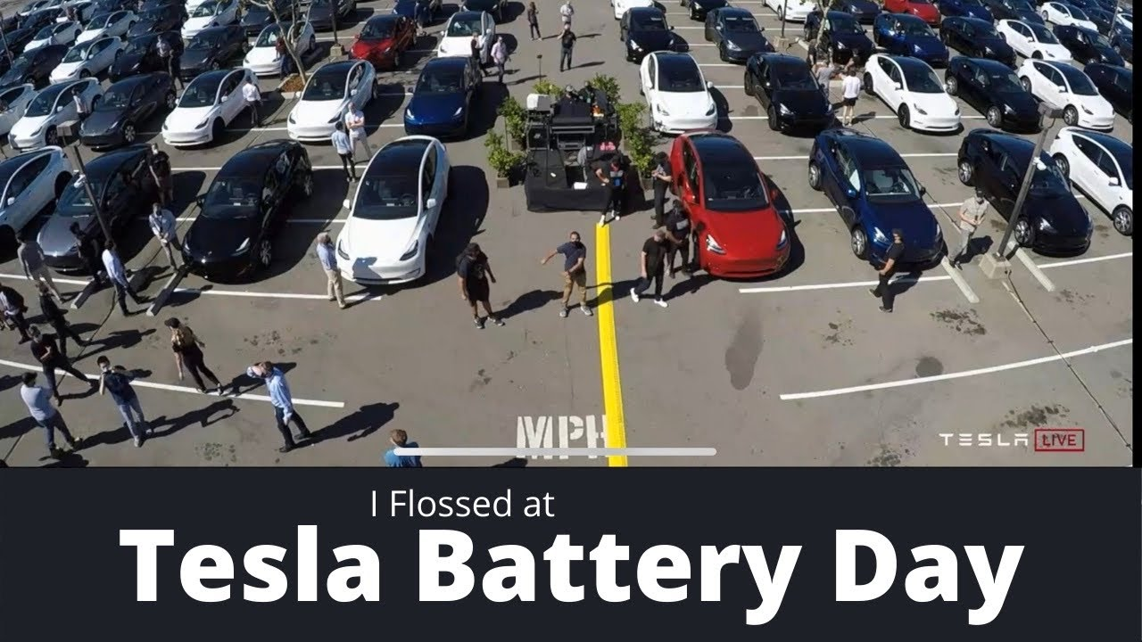I flossed at Tesla's Battery Day