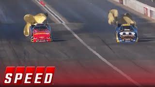 Matt Hagan vs. Courtney Force - Pomona Funny Car Final   NHRA 2017