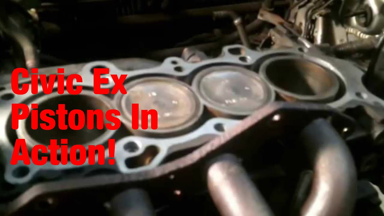 2001 Honda Civic Ex 17l Piston Movement Youtube Engine Diagram