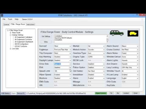 EAS Unlock V3 - Body Control Module Settings