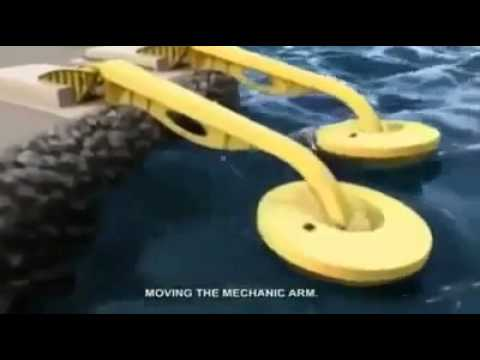 Ocean wave energy convert in electricity