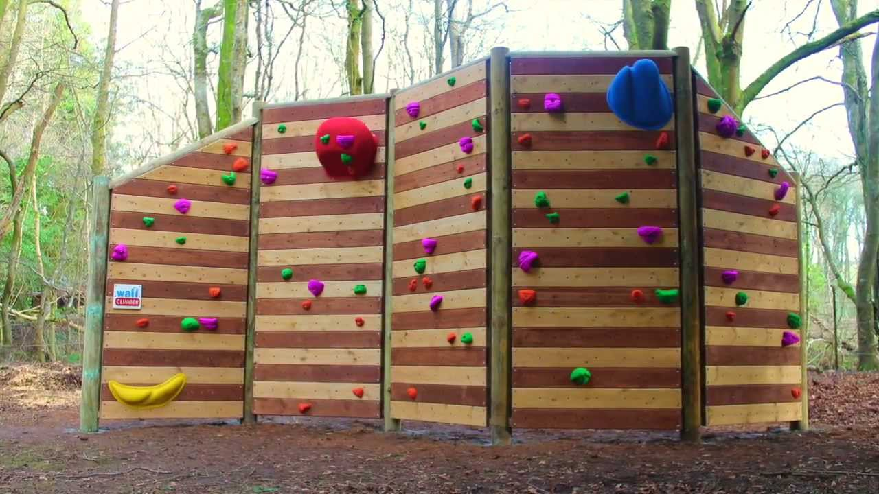 how to build a freestanding climbing wall